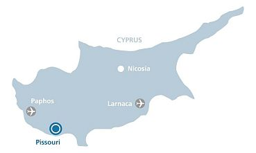 Location - Cyprus map with airports
